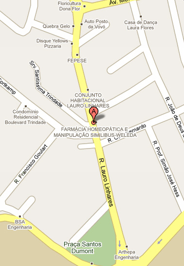 Veja o mapa de localização